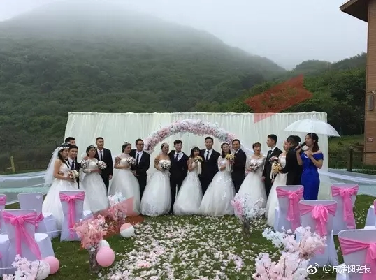 Hot group wedding picture turns to be a hoax