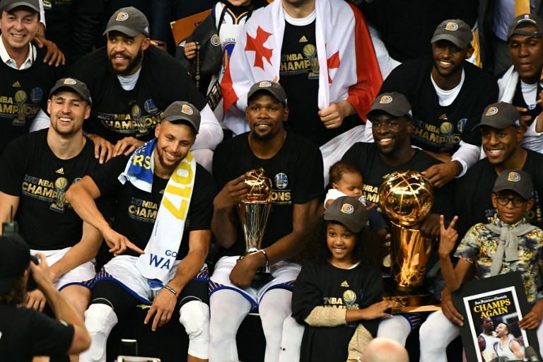 Durant powers Warriors over Cavaliers for title