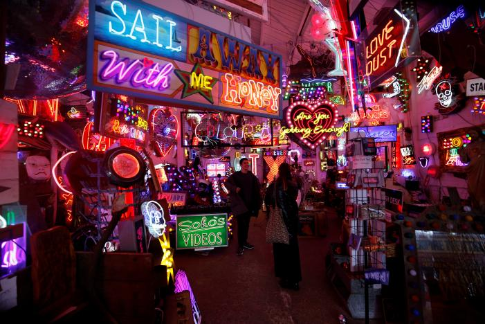 The London gallery shining a light on neon art
