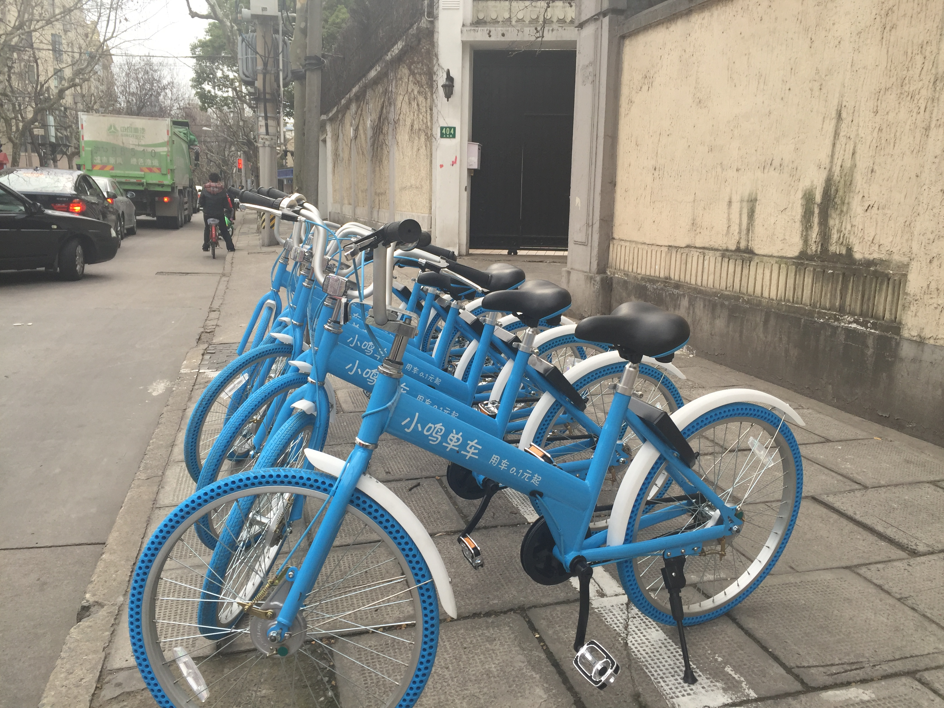Taking a spin on Shanghai's colorful shared cycles