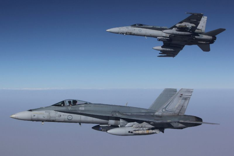 Australia's military suspends air operations over Syria