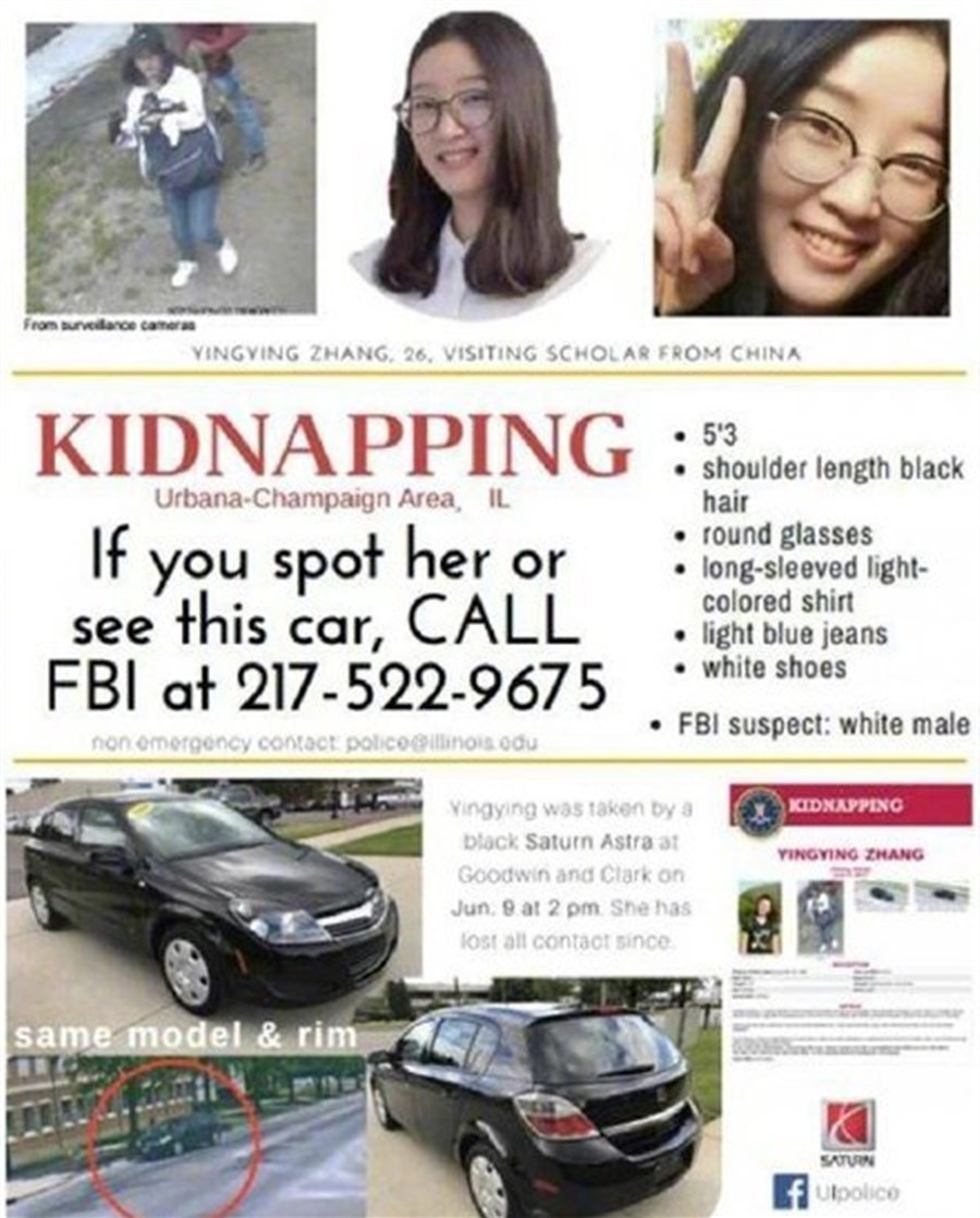 FBI finds car related to kidnapped Chinese scholar in Midwest US