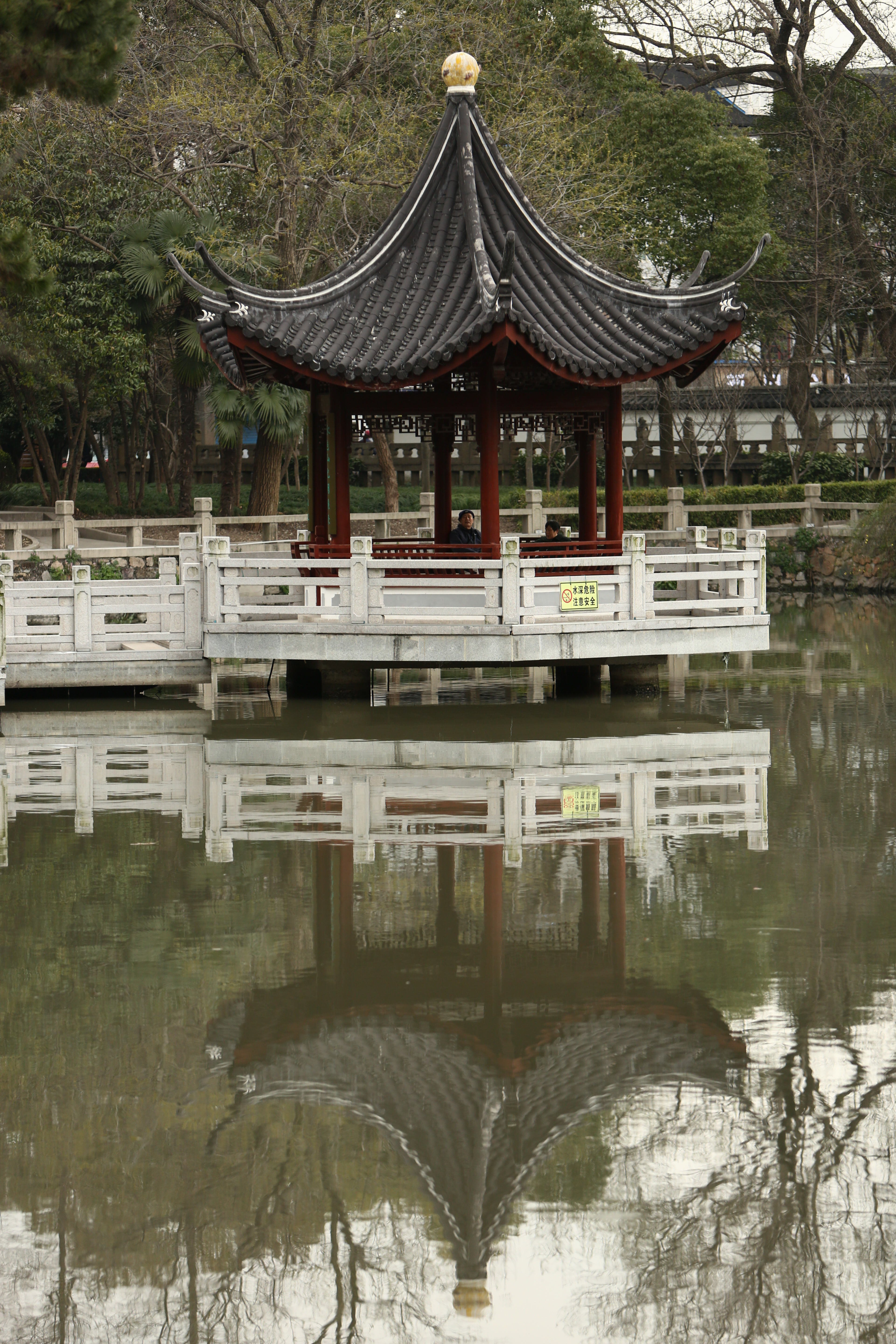 A pond, a hill, an opera stage create magical setting