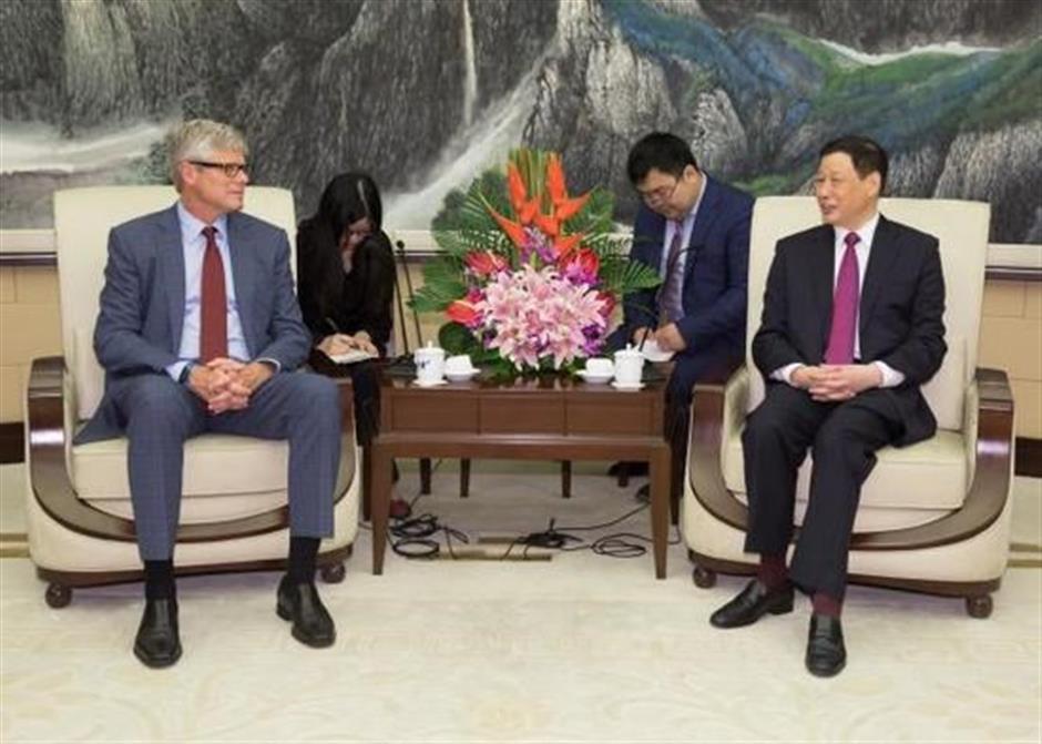Shanghai mayor talks with Qualcomm CEO