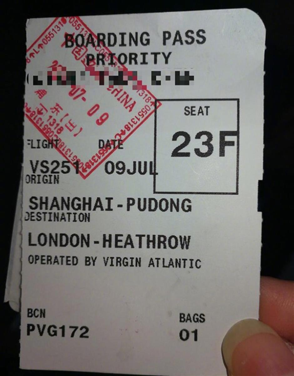 Unaccompanied child asked to leave London to Shanghai flight