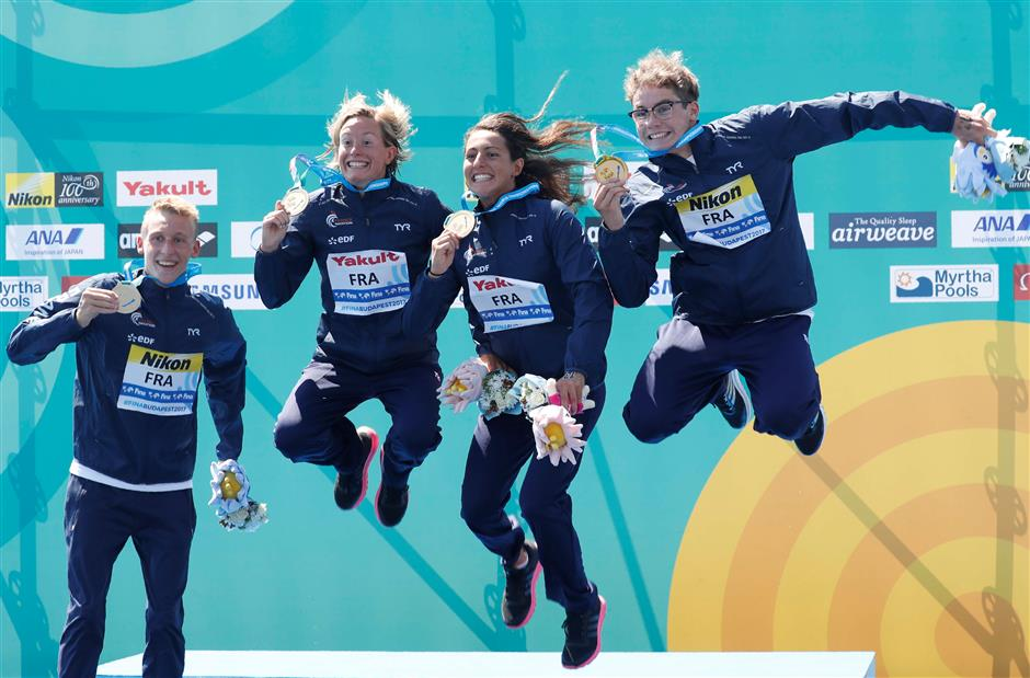 More world titles for France, Russia in open water, synchro
