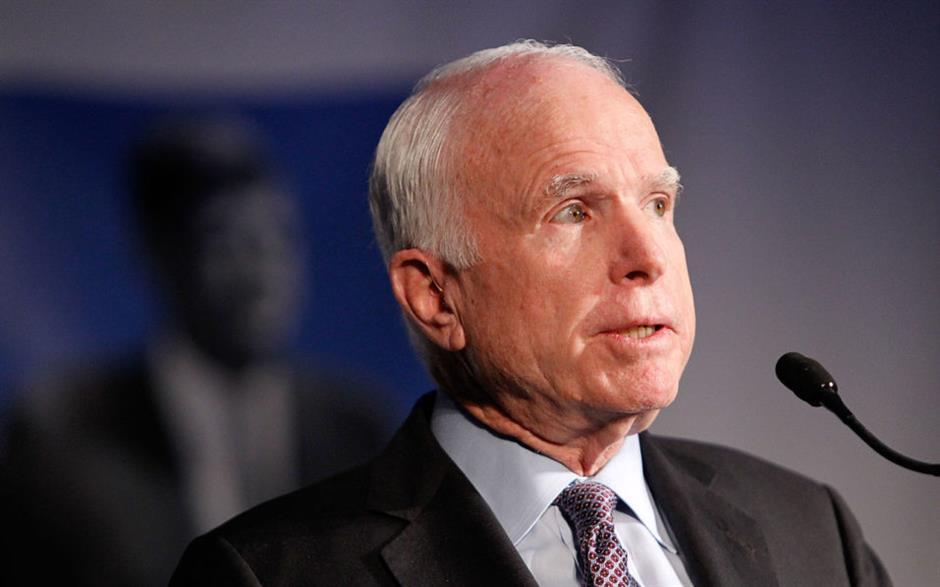 US Senate icon McCain diagnosed with brain cancer