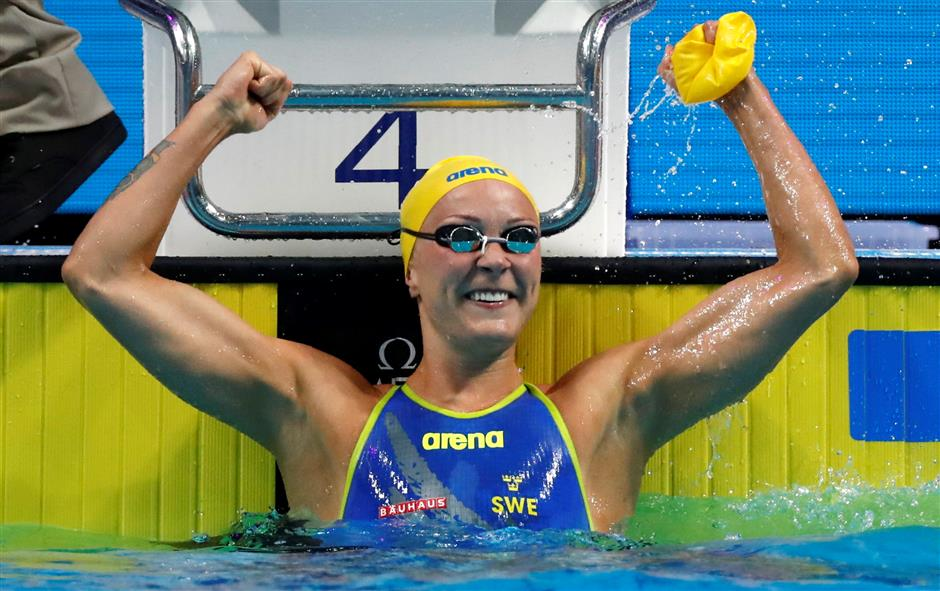 Sjostrom claim 4th 100 butterfly gold at worlds