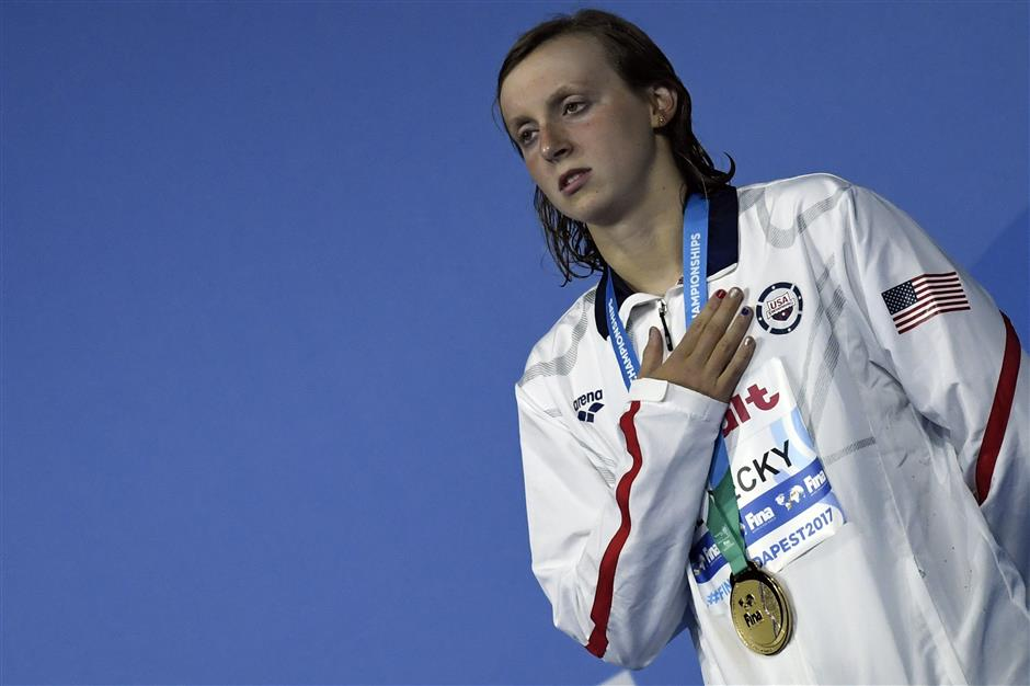 Supreme Ledecky better prepared for tough schedule at Budapest worlds
