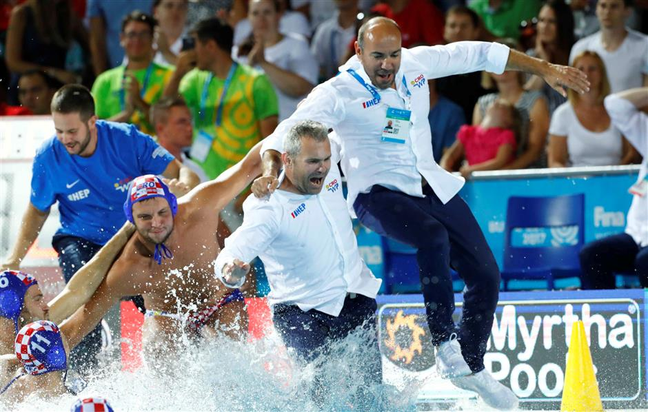 Croatia beats host Hungary to win water polo world title
