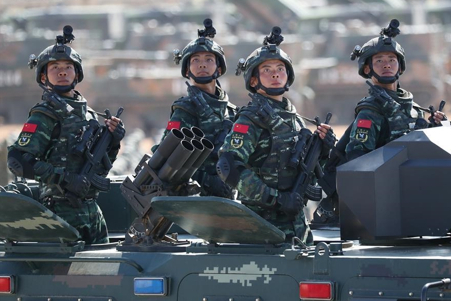 China's Army Day parade shows resolution to safeguard peace