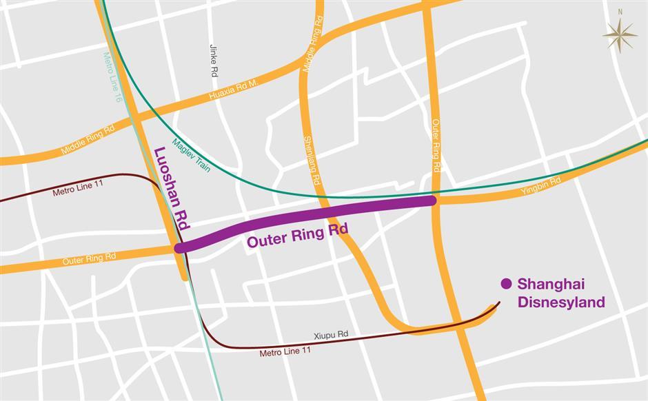 Work Starts on Outer Ring Roadnear Disneyland