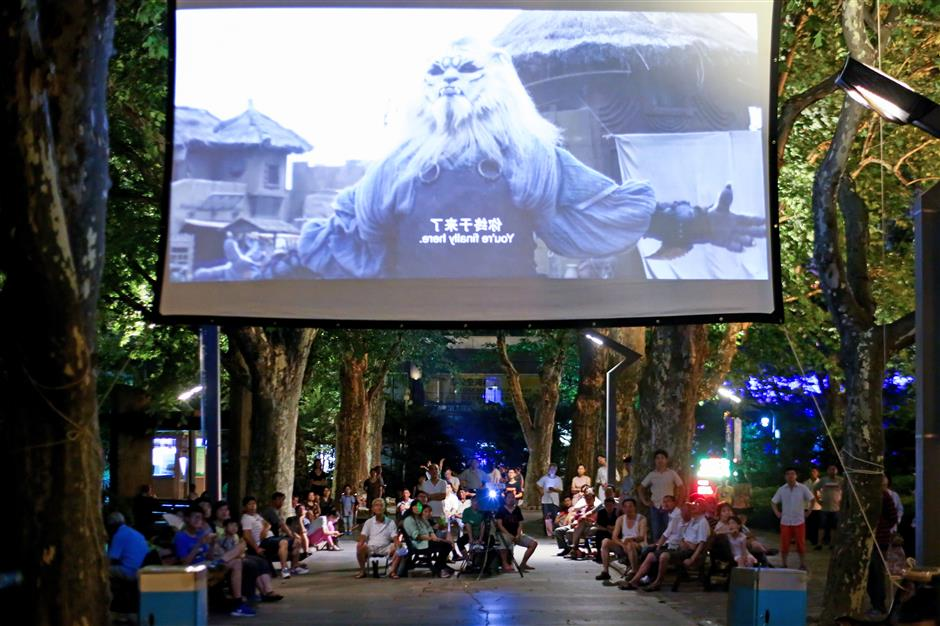 Outdoor movies — a real summer treat