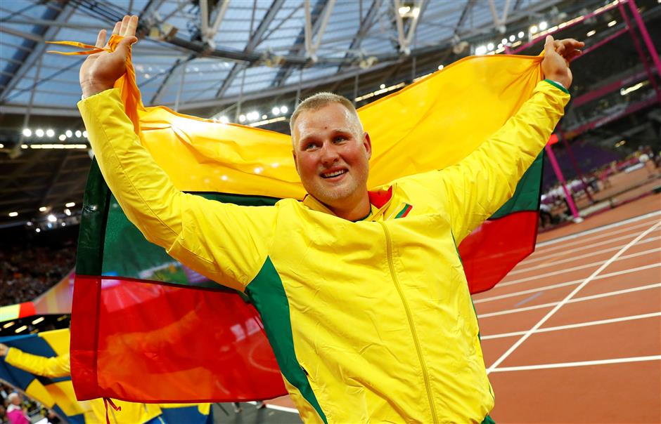 Gudzius earns stunning discus triumph for Lithuania