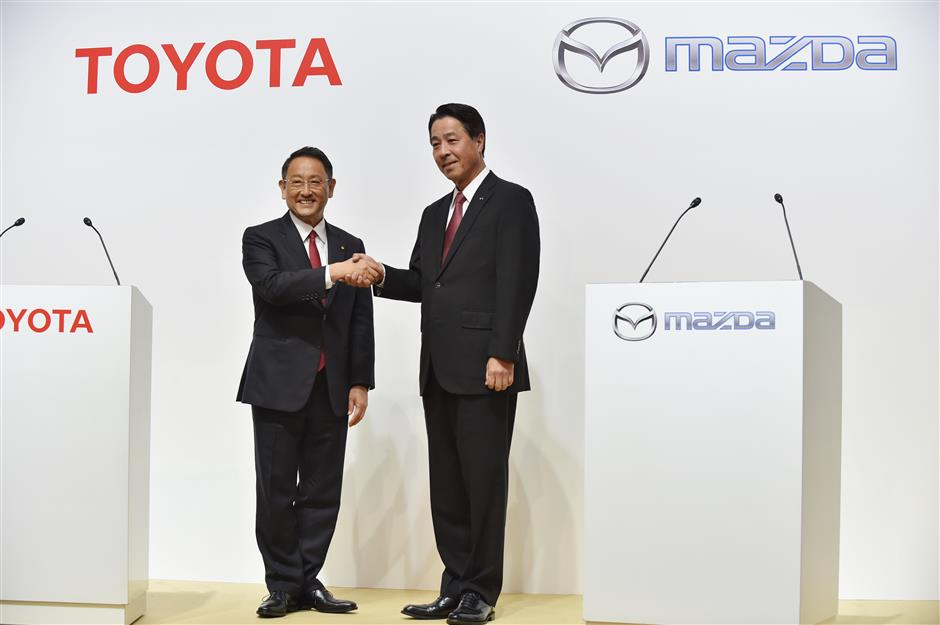 Toyota andMazda agree to collaborate on new US plant and new tech
