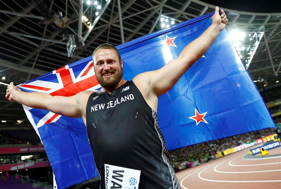 New Zealand's Walsh follows in Adams footsteps with shot put gold