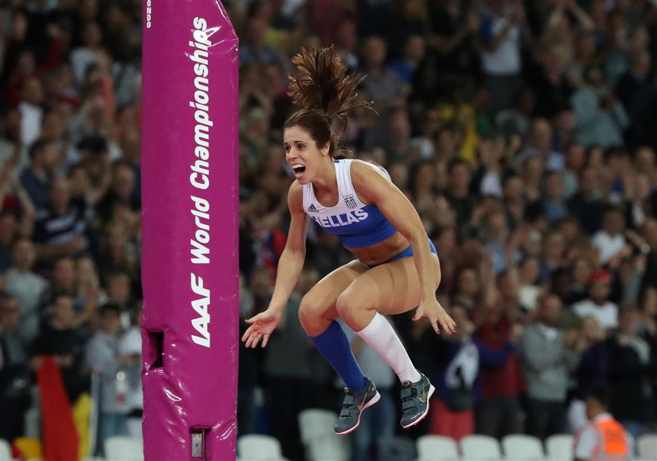 Greek queen Stefanidi completes collection of major pole vault titles