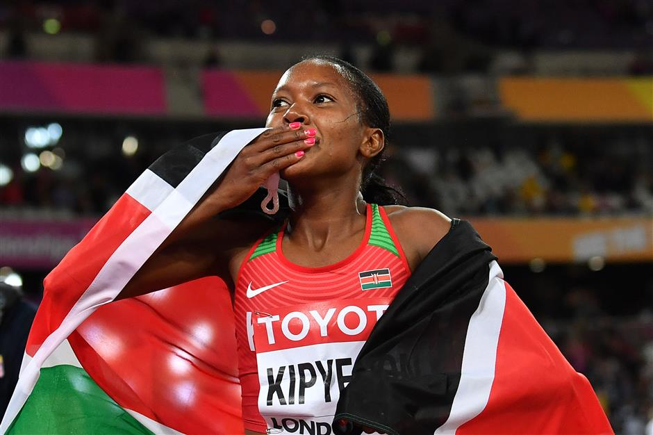 Kipyegon adds world title to Olympic 1,500-meter gold medal