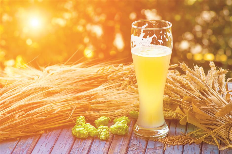 Gan bei! Let's quaff a cold beer to quell August heat