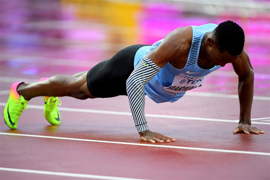 Welcome back: Makwala stops, drops and sprints at worlds