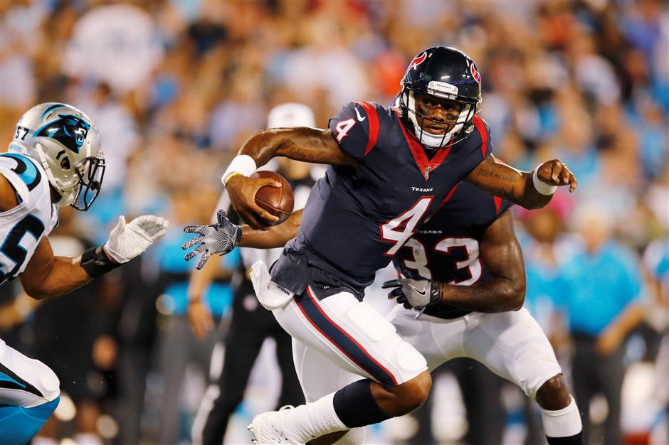 Rookie QB Watson shines in Texans' preseason loss to Panthers