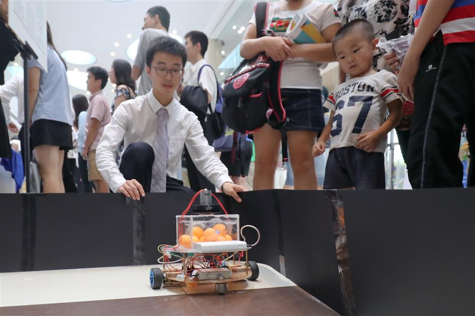 Student's innovative ideas displayed