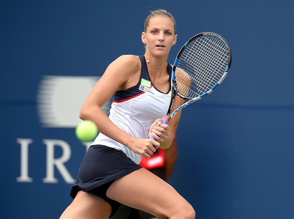 Pliskova begins No. 1 reign with ragged win