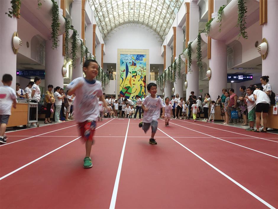 Asthmaticchildren take part in sports meet to improve condition