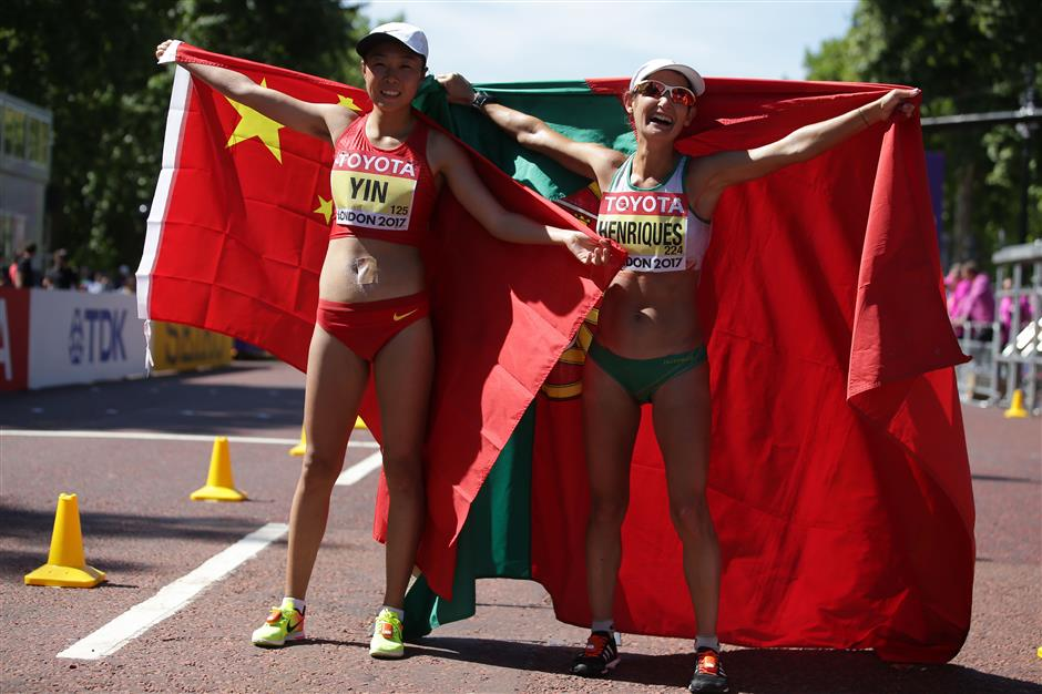 Henriques breaks own WR to win women's 50km; Yin, Yang complete podium