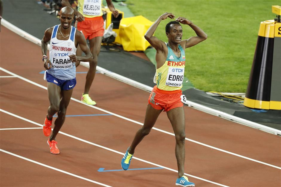 Mo Farah loses in final race on track at worlds