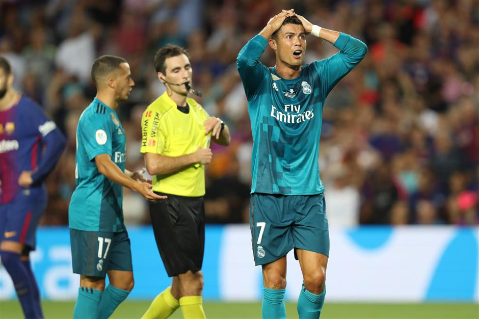 Ronaldo handed five-match ban for ref push