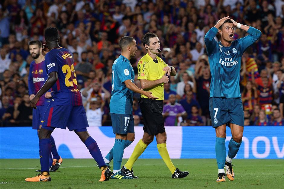 Ronaldo facing heavy ban after pushing referee