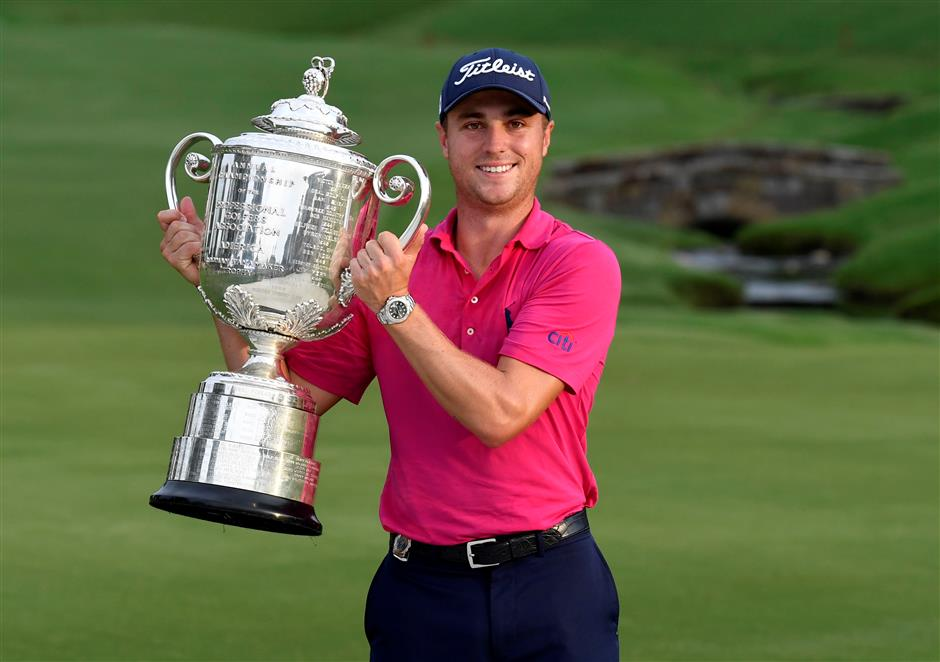 American Thomas picks the right major at the right time to win