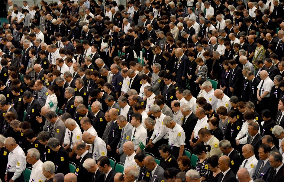 Abe fails to mention reflection for 5th straight year at anniversary of Japan's surrender
