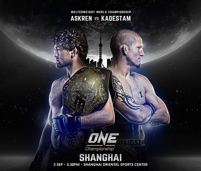 ONE Championship to make Shanghai debut on Sept. 2