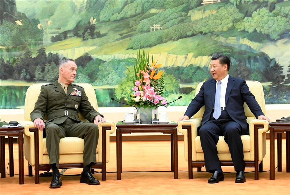 Chinese president meets top US general
