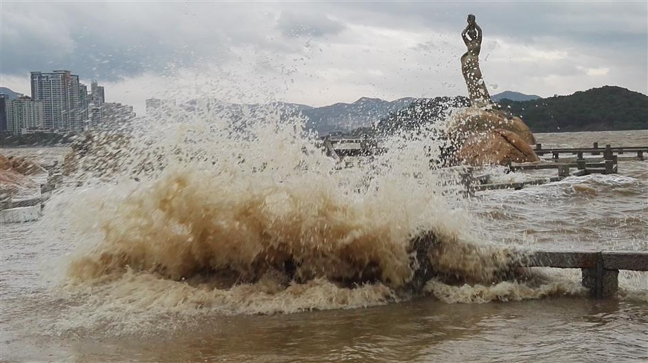 Typhoon Hato lands in south China