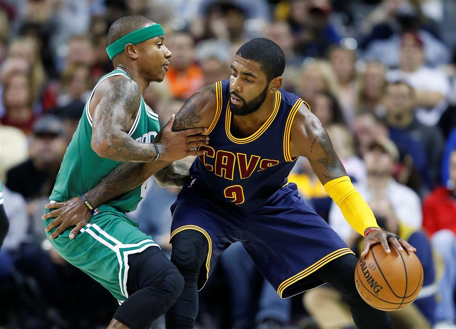 Kyrie gets a new address, but Cavs win trade