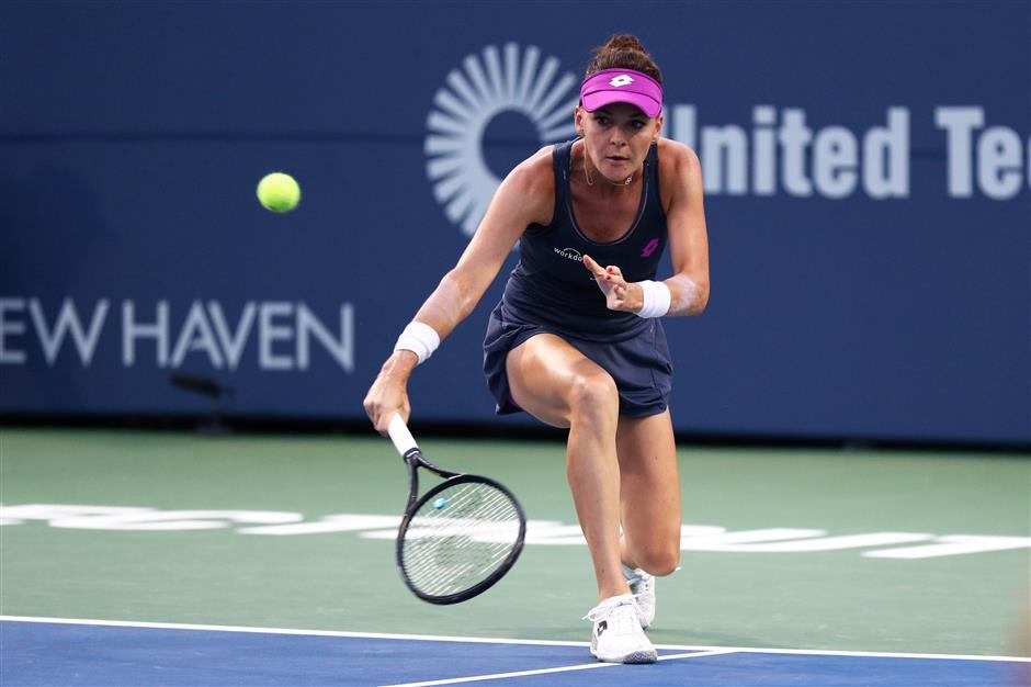 Top seed Radwanska gets past Bouchard at Connecticut Open