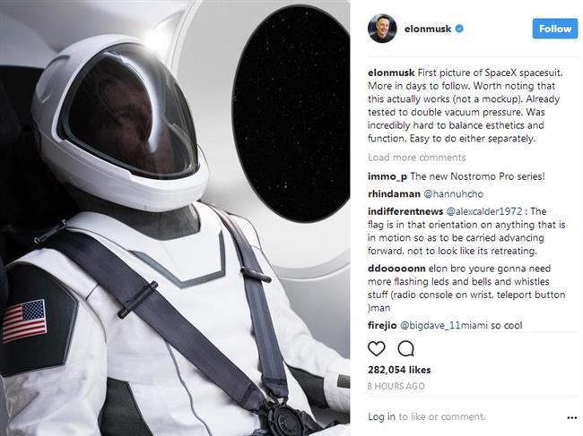 SpaceX unveils peek at sleek new spacesuit