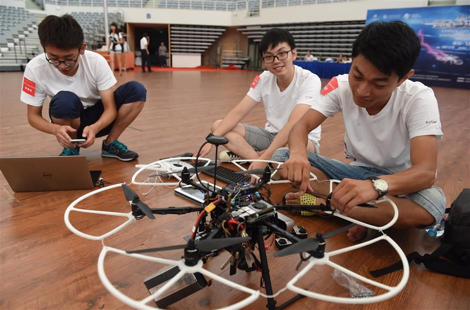 Intelligent drones compete in inaugural competition at Jiao Tong University