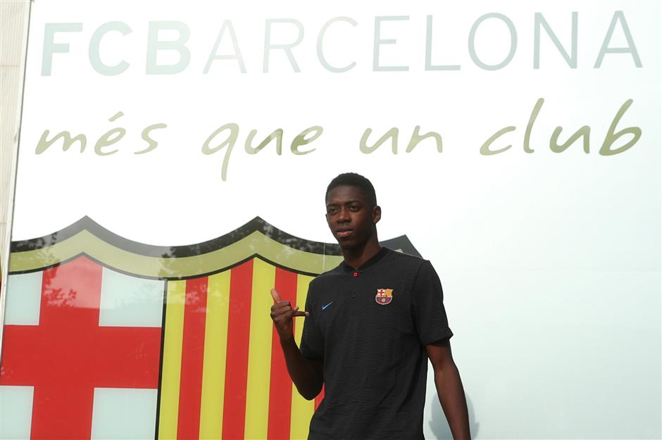 Dembele arrives with potential to step into Neymar's shoes