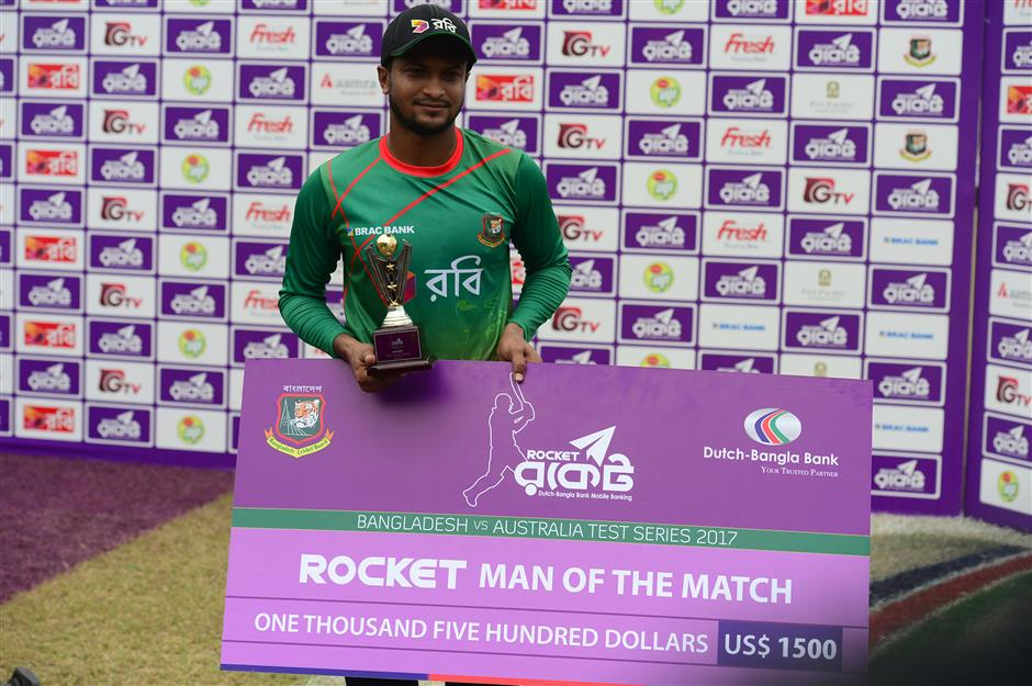 Bangladesh stuns Australia in first test as underdogs triumph