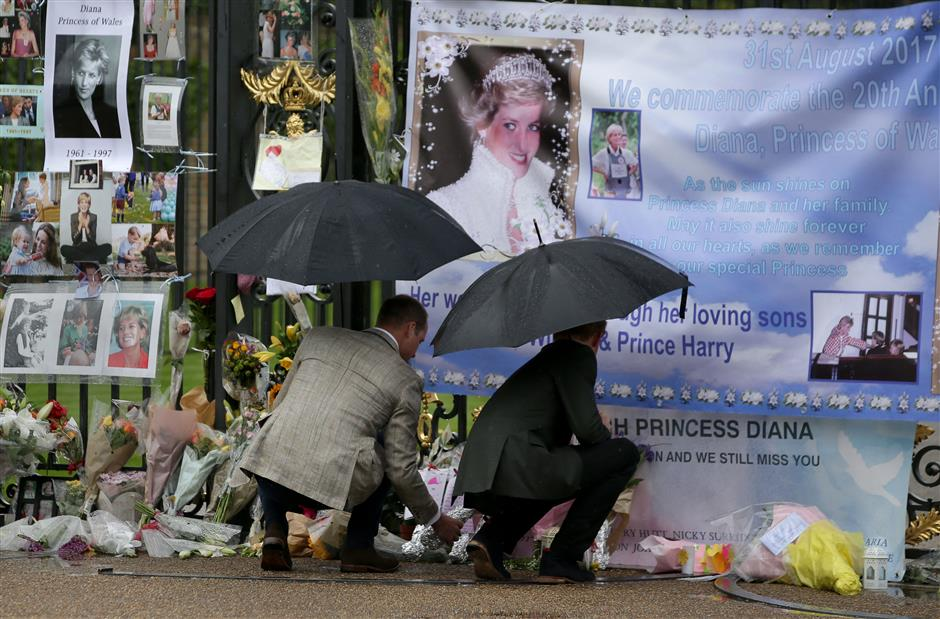 Princes pay tribute on eve of Diana anniversary