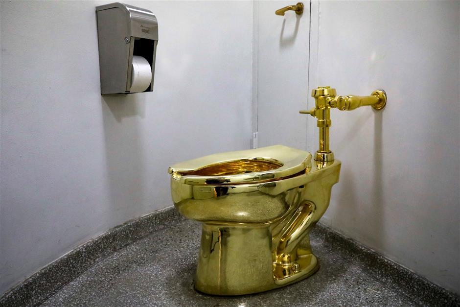 Golden opportunity in smallest room