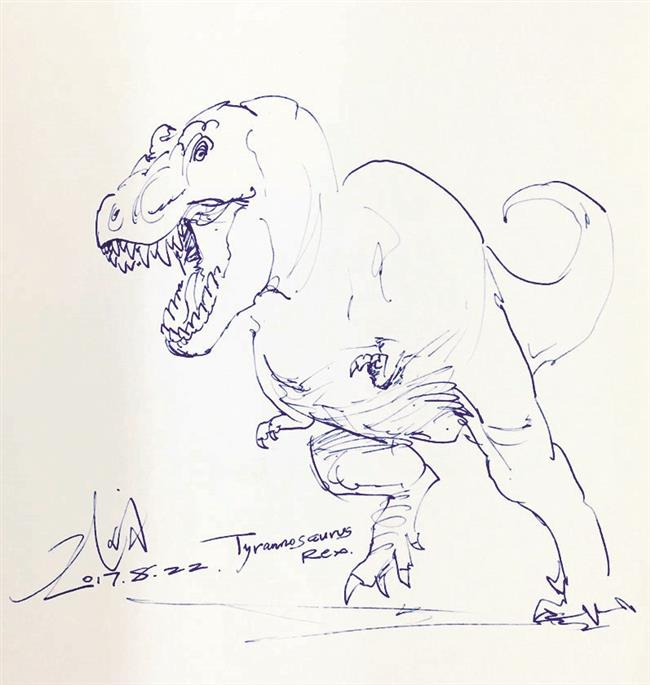 Making art out ofpassion for dinosaurs