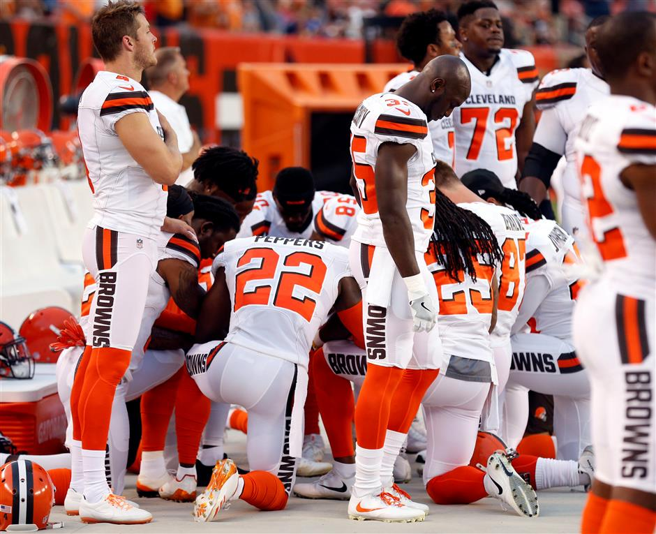 Cleveland police to skip Browns' NFL ceremony in protest