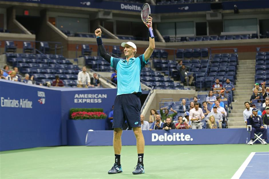 Anderson edges Querrey at US Open to reach 1st Slam semifinal
