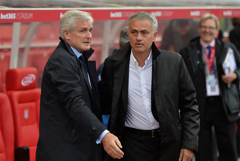Mourinho-Hughes friction as United's perfect start ends