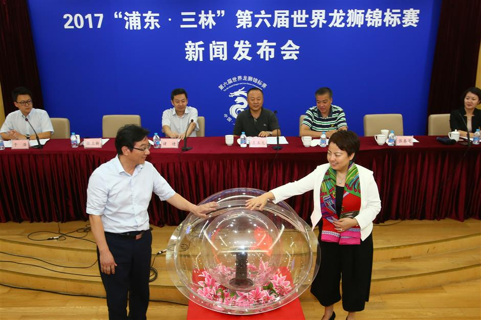 Dragons and lions to battle in Pudong town
